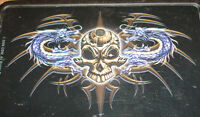 Skull Dragon Black TOBACCO CIGARETTE ROLLING STRONG BOX Metal Tin Travel CASE
