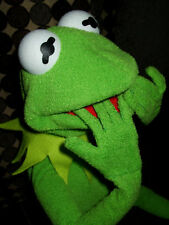 Large KERMIT THE FROG FULL HAND PUPPET WITH wired Hands PROFESIONAL PUPPET