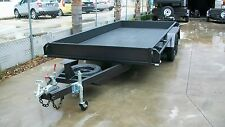 "16x6'6""  Car Carrier Tandem Trailer with Tailgates"