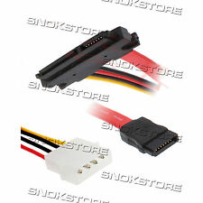 CAVO ALIMENTAZIONE POWER CABLE 15+7 PIN SATA 30cm to 7 PIN & 4 PIN FOR HDD NEW