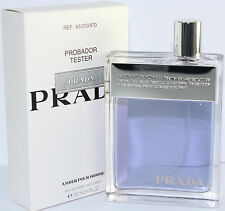 PRADA POUR HOMME AMBER TSTER  3.3/3.4OZ EDT SPRAY FOR MEN WITH TSTER BOX