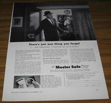 1953 AD~MOSLER SAFE COMPANY~UNEASY BUSINESSMAN