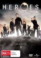 HEROES SEASON 3 *NEW+SEALED* 6 DVD SLIMLINE SET REG 4