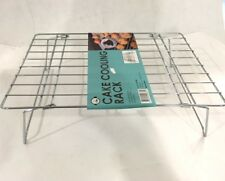 2x Cake Cooling Rack Chrome Wire Plated Stackable Kitchen Folding Stand Baking
