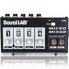 More details for soundlab 4 channel mono mixer with channel volume controls and echo