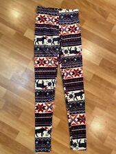 No Boundaries S (Sz 3-5) Multicolor Microfleece Scandinavian Leggings