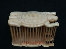 Collection Old China Hand Carved Lovely Turtle Cricket Cage Family Decoration