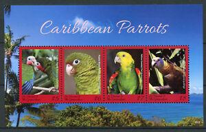 St Vincent & Grenadines 2018 MNH Caribbean Parrots 4v M/S Parrot Birds Stamps