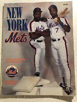 1991 NEW YORK METS Official Yearbook HUBIE BROOKS Vince COLEMAN Howard JOHNSON