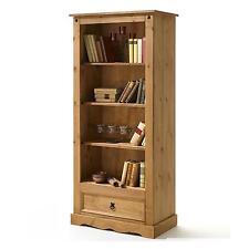 Bibliothèque étagères pin massif finition cirée