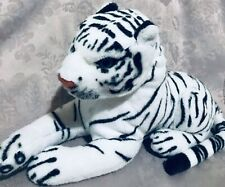 American Furniture Warehouse Realistic White Tiger Plush 17""