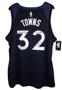 Karl-Anthony Towns Signed Timberwolves Nike NBA Swingman Jersey Autographed JSA