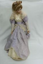 """Franklin Heirloom 22"""" Doll- Lavender Dress With Stand"""