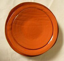 Posto tavola in ceramica colorata arancio creata a mano etnica