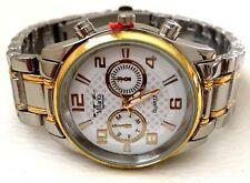 Men's Dress Watch MILANO MC42881Silver & Gold Bracelet Band Water Resistant 1ATM