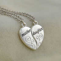 Special Mother Daughter Silver Charm  Flower Women Chain Pendant Necklace TR Hot