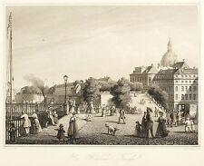 DRESDEN - BRÜHLSCHE TERRASSE - Johann Poppel - Stahlstich 1850
