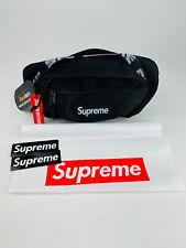 Supreme SS18 Black Waist Bag Fanny Pack Cordura Fabric With Bag & Stickers-b