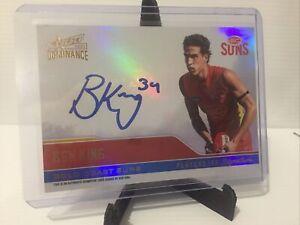 2019 Select AFL Dominance Players Ink Signature Ben King Gold Coast Suns 146/175