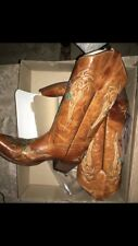 Corral Western Cowboy Cowgirl Country Boots with teal cross accents-size 9