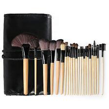 Professionelle 24tlg Kosmetik Pinsel Makeup Brush Echthaar Schminkpinsel Set DE