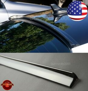 "47"" Length Semi Gloss Black Rear Flexy Window Roof Trunk Spoiler Lip For   Dodge"