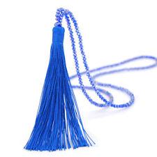 10 Colors Vintage Tassel Pendant Long Necklace Chain Pendant Boho Beaded Sweater