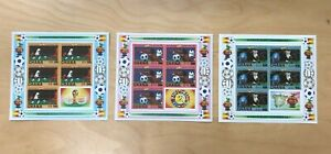 Ghana 1984 - SC# 912,914,916 World Cup Soccer - Imperf Set of 3 Surcharged - MNH