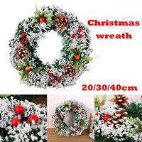 1Pc Christmas Wreath Wall Hanging Oranments Xmas Party Wreath Door Garland Decor