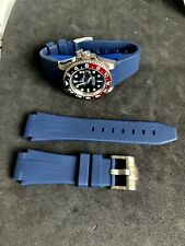 BLUE Rubber Strap Band For Ceramic Rolex 40mm Case Watches - 20mm Lug Width