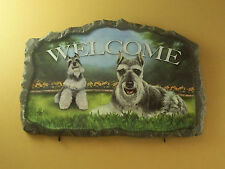 Lovable Schnauzers Wall Plaque With Hooks for Hanging Keys Etc Linda Picken Mib