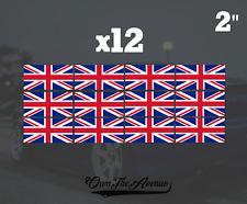 """x12 United Kingdom Flag 2"""" Sticker Vinyl Union Jack British Stickers Decals UK"""