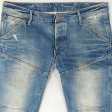 Mens G-Star 5620 3D LOW TAPERED Combat Style Blue Jeans W34 L34