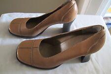 Amanda Smith Leather Upper Sz 8 M Tan High Spool Heel