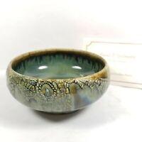 """Russel P Spillmann Bowl Art Pottery Porcelain Signed 5"""" Hand Thrown"""