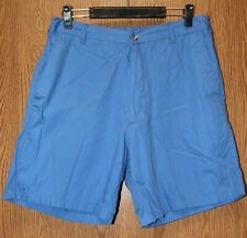 Mens Comfy Blue Haband Flat Front Shorts Size 36 excellent wp