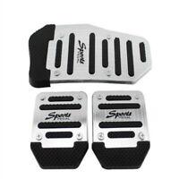 Set Silver Universal Pedals Pad Cover Car Interior Decor Car Accessories Durable