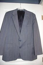 Used Christian Dior Gray 2 Button Sport Coat Jacket Suit Blazer Mens Pinstripe