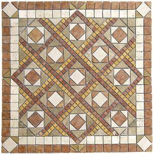 Rosoni rosone mosaico decorativo Mizar 66x66 cm in marmo naturale su rete