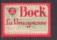 Ancienne étiquette Bière Alcool France Brasserie  La Bruaysienne