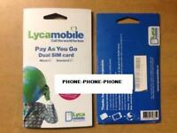 1 x Lycamobile Lyca mobile ireland SIM PACK Irish Sim **great rates for Data**