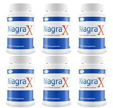 6 NIAGRAX #1 Male Sexual Enhancement Performance Pill Hard Long Erection Orgasm