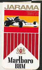 Original MARLBORO BRM F1 Équipe espagnole Jarama GP période 1972 Course Autocollant Adesivo