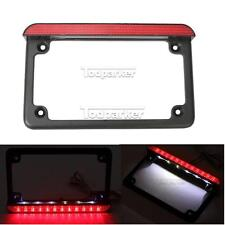 LED License Plate Frame For Kawasaki Vulcan 500 750 800 900 1500 1600 1700 2000