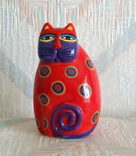 Cat Figurine Laurel Burch Feline Red New Ceramic Figurine Statue