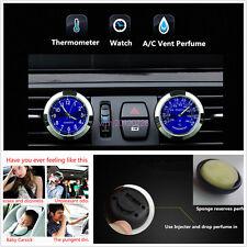 1 Set Car A/C Vent Clock + Thermometer Kit Freshener Perfume Storage Reservoir