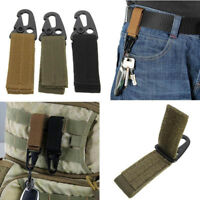 Tactical Molle Belt Carabiner Key Holder Nylon Camp Bag Hook Buckle Strap Clip