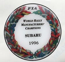 1996 WORLD RALLY MANUFACTURERS CHAMPIONS 555 DOMED PLASTIC BADGE