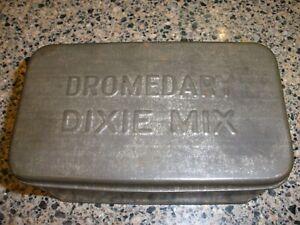 Vintage Dromedary Dixie mix Tin Box Canco Brand Camel Fruitcake1930's