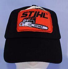 Stihl Black foam trucker truckers   Hat / Cap   with orange patch